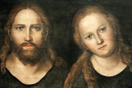 ein Gemälde welches Jesus und Maria Magdalena darstellt