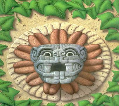 representación de cara de Quetzalcóatl