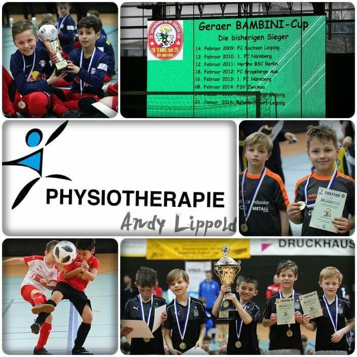 """Am 27.-28.1.18 hatten wir die Ehre beim 20.Bambini-Cup in der Panndorfhalle Sponsor zu sein.  Denn """"Um Erfolg zu haben, brauchst du nur eine einzige Chance""""  Wir freuen uns Teil eines erfolgreichen Turniers zu sein, eure Physiotherapie Andy Lippold"""