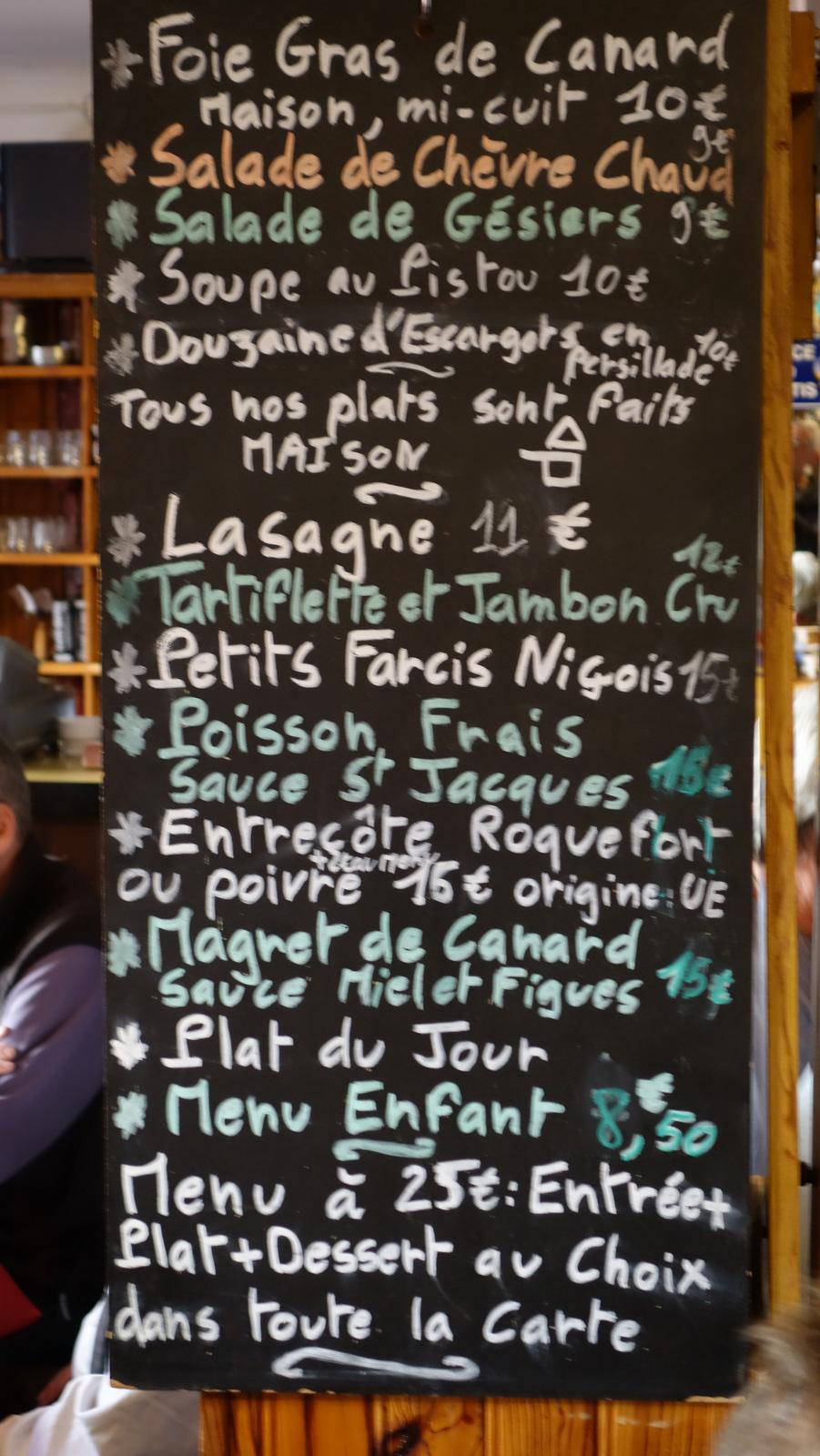 beau menu !!!