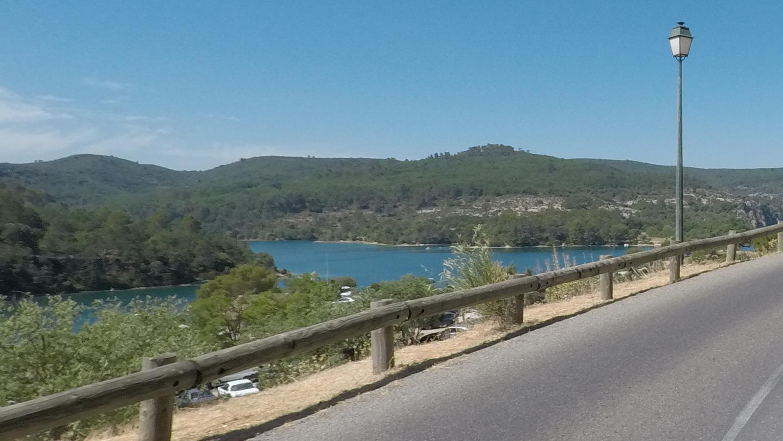 début du lac à Esparron de Verdon