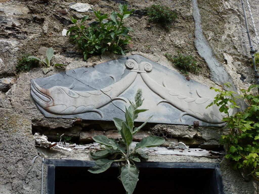 décoration dessus de porte en ardoise