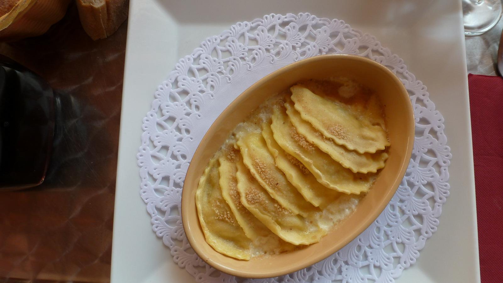ravioles de truffes sauce crémeuse