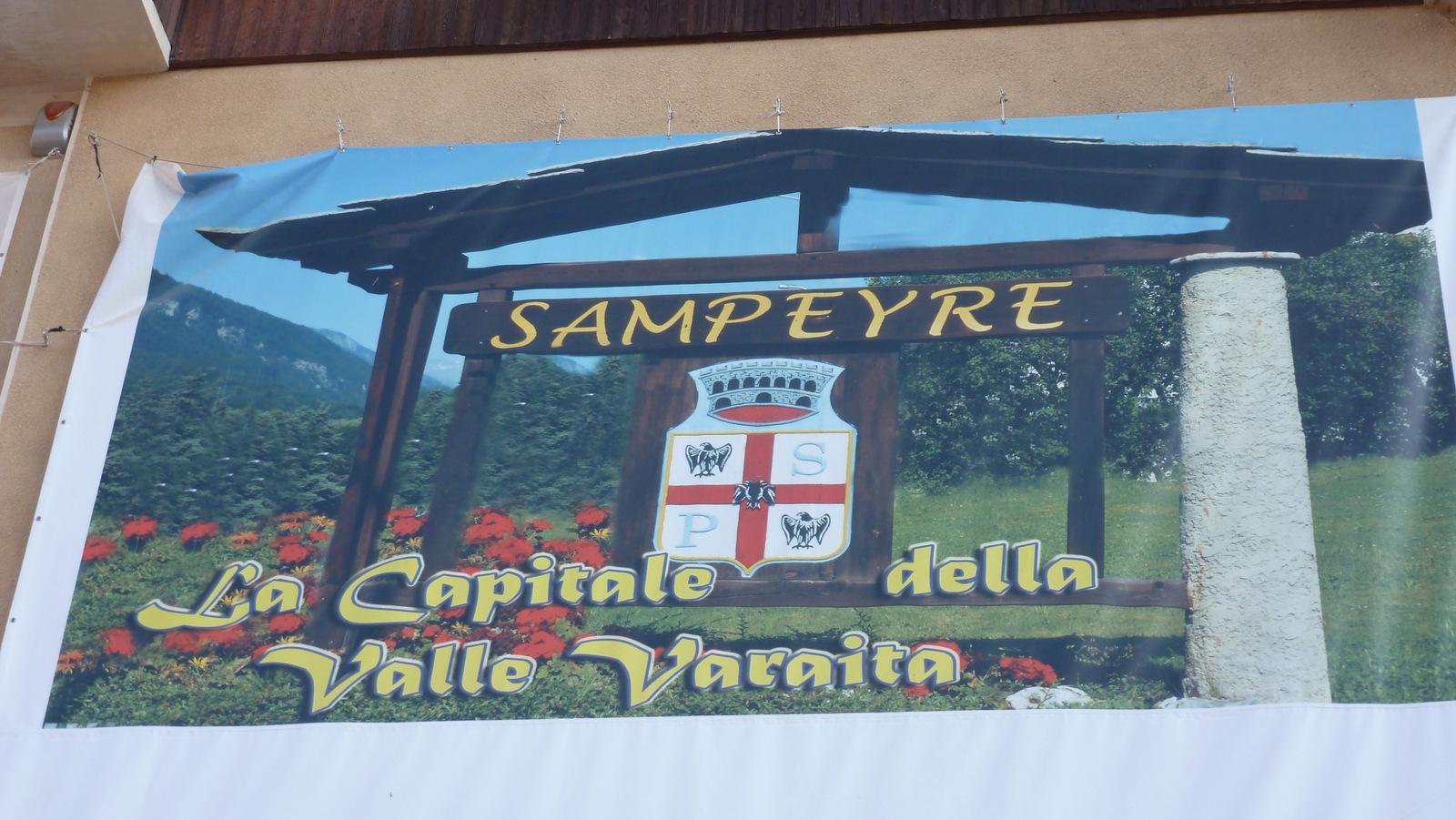 arrivée à Sampeyre