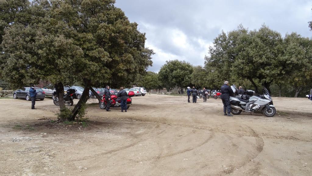 parking du monastère de Ganagobie