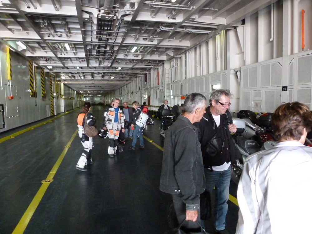embarqement sur le ferry