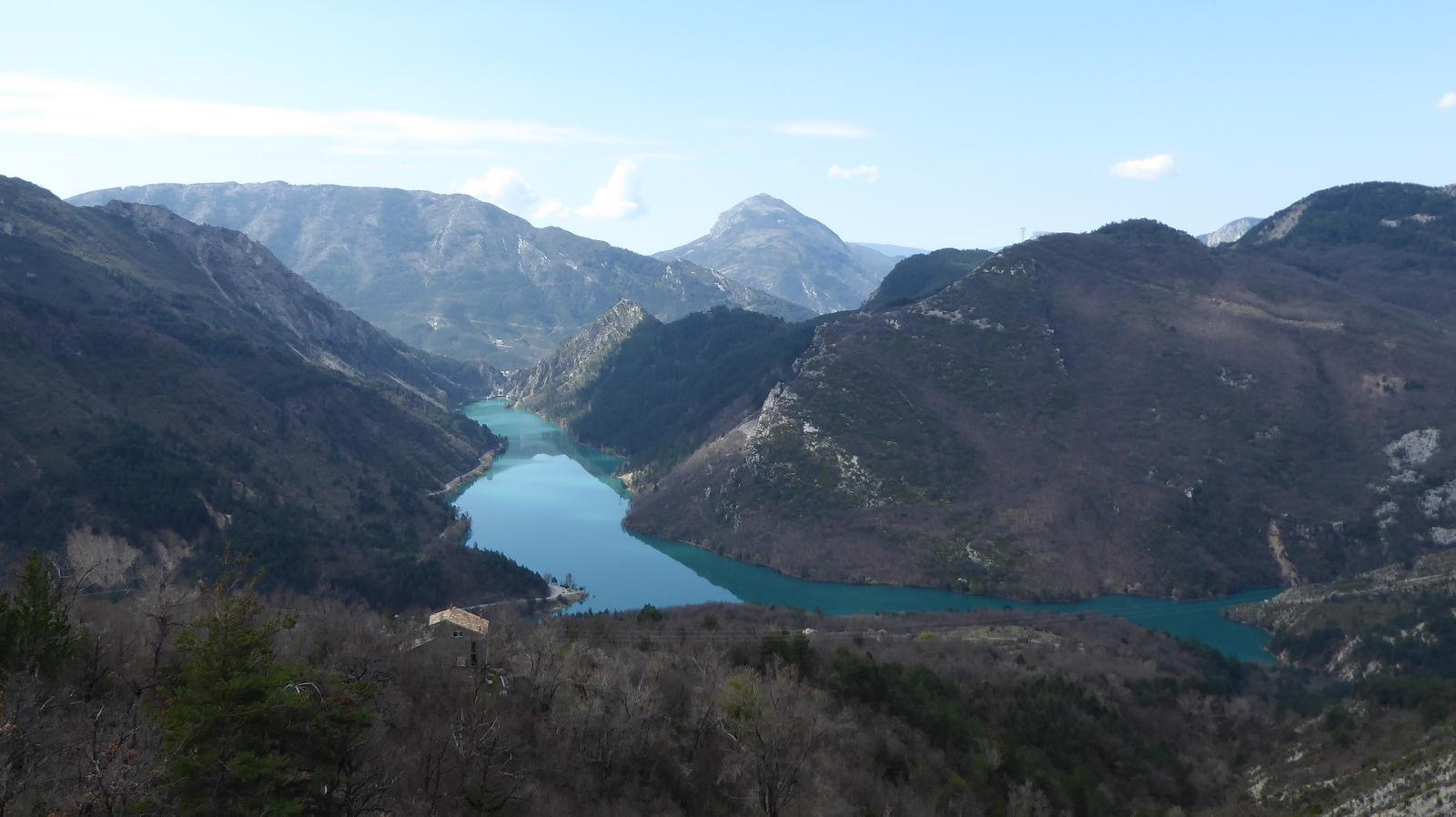 vue sur le lac de Chaudanne