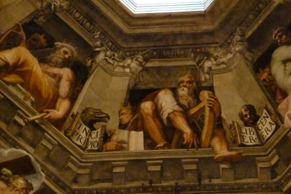 Florence - détail à l'intérieur du dôme de la cathédrale