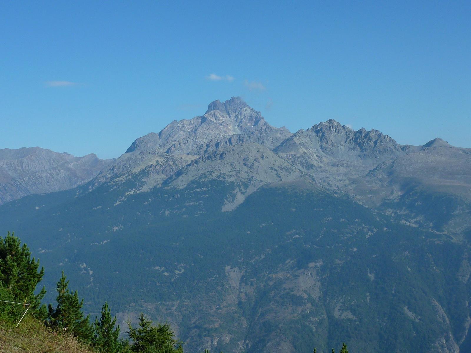 magnifique vue sur le mont Viso