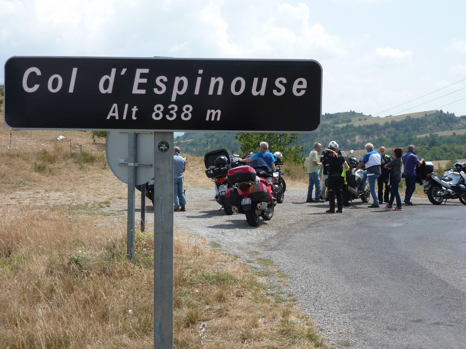 arrêt au Col d'Espinouse