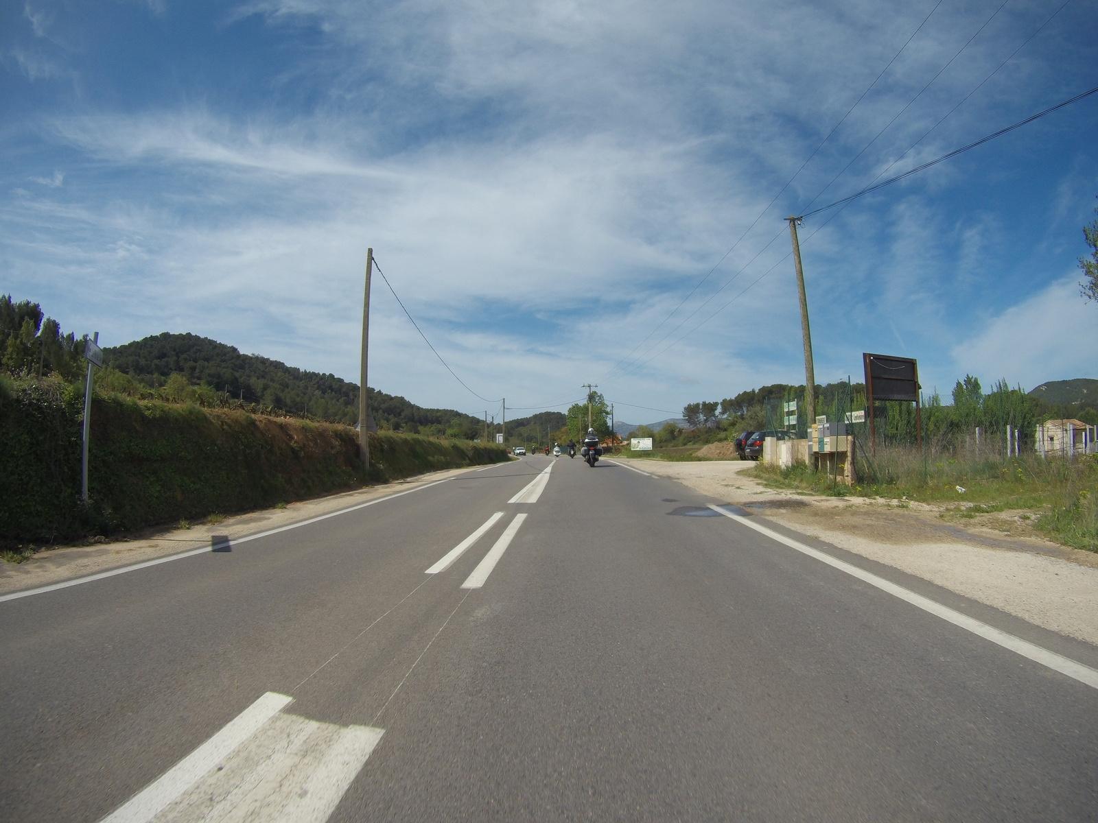 Retour sur les petites routes après quelques km d'autoroute force 7