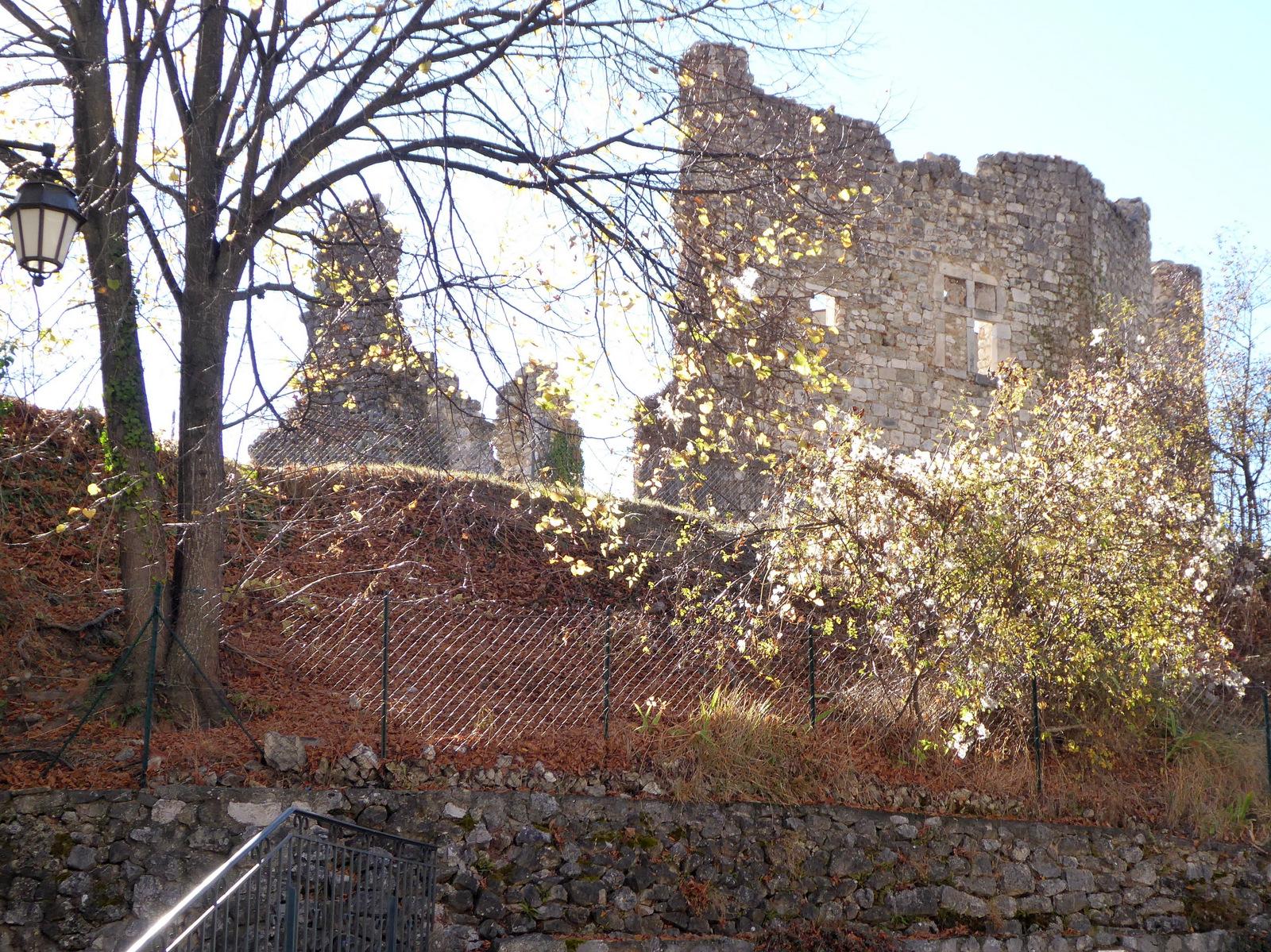 les restes du château