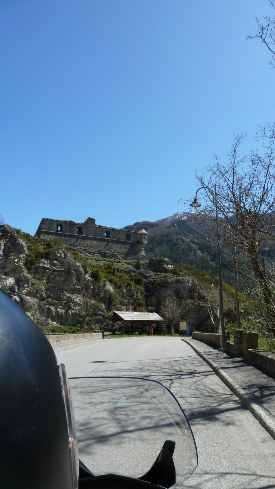 arrivée à Colmars les Alpes
