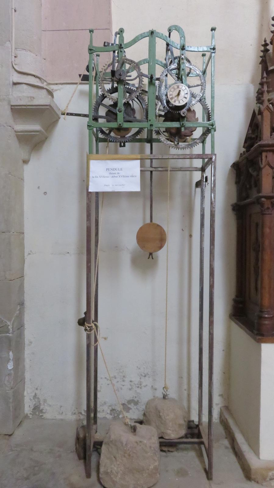 pendule : fin XVI ème siècle