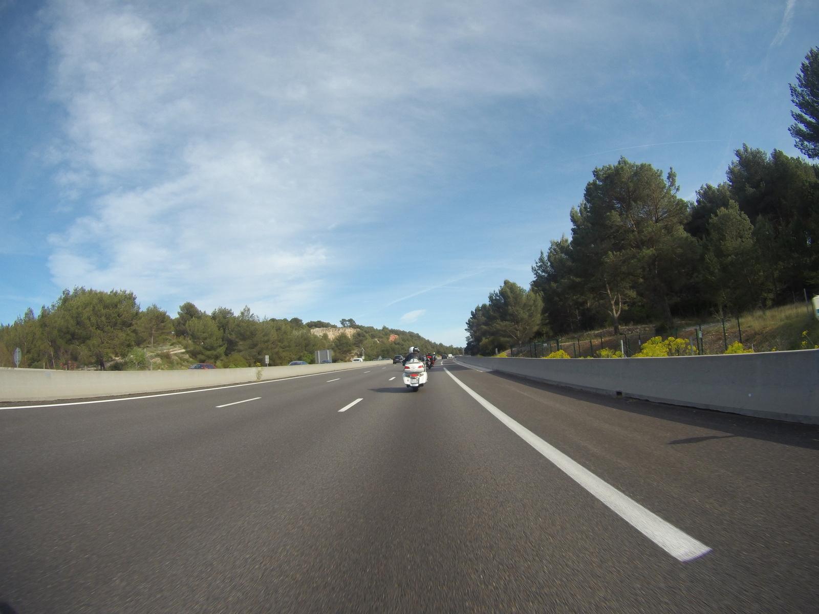 Et autoroute direction St Maximim