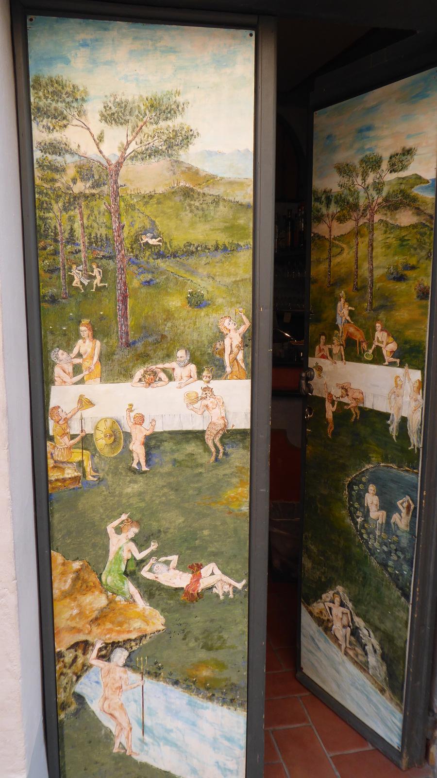 la porte du restaurant : Antiche Bonta di Valloria