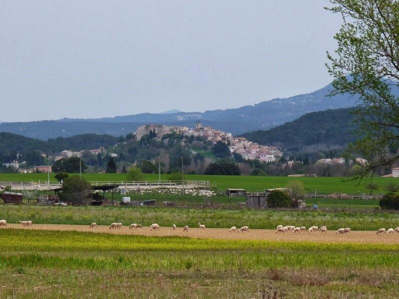 village de Cabriès vu de chez Patricia