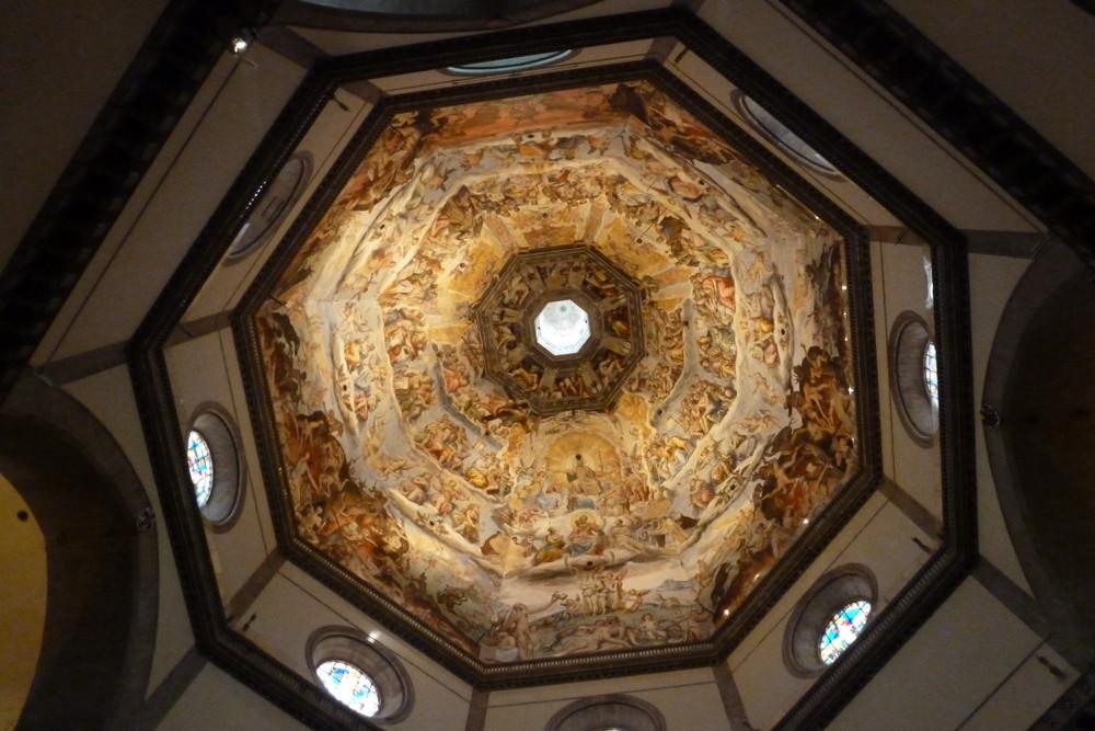 Florence - l'intérieur du dôme de la cathédrale