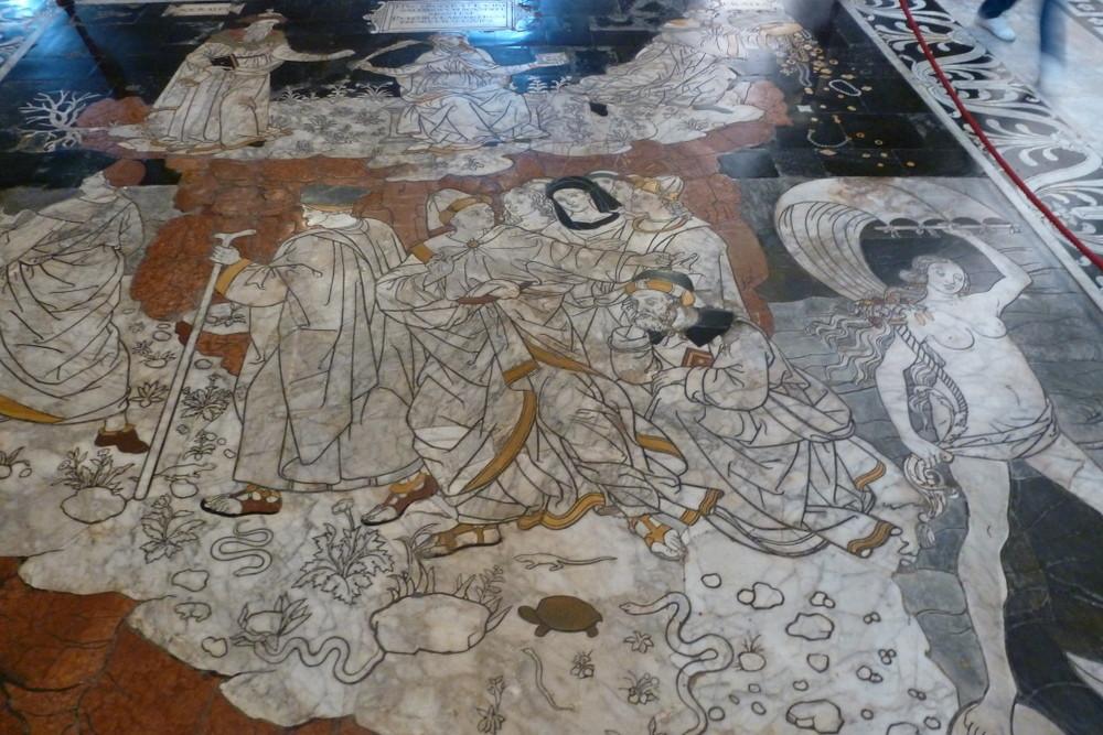 Sienne - sol du Duomo