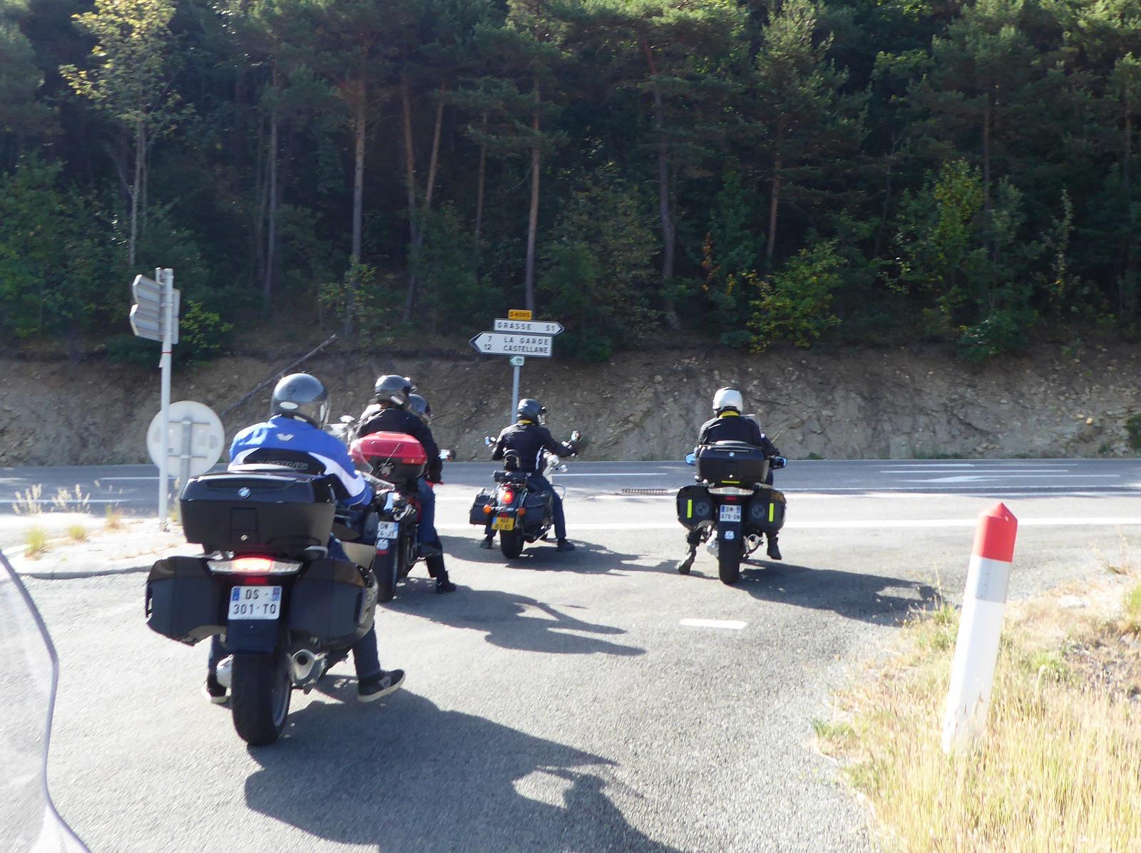 arrivée sur la Route Napoléon