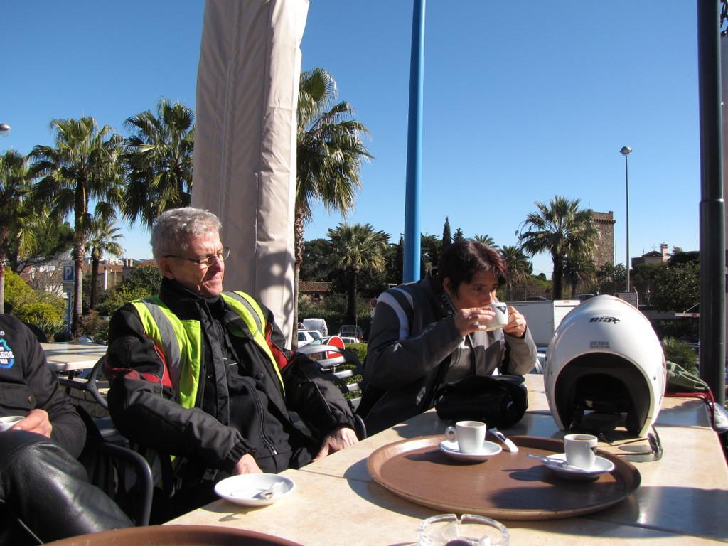 pause café à la Napoule
