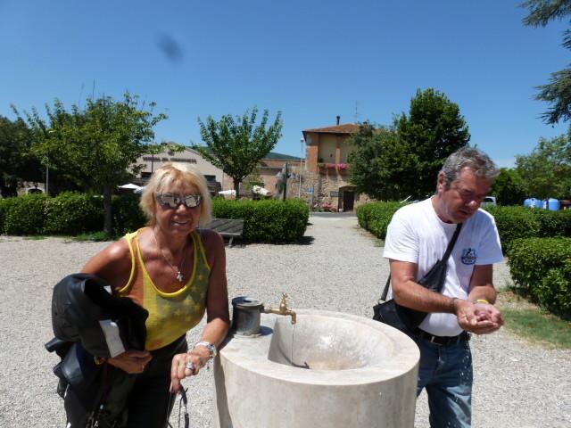 San Giminiano (tout point d'eau est exploité !!!)