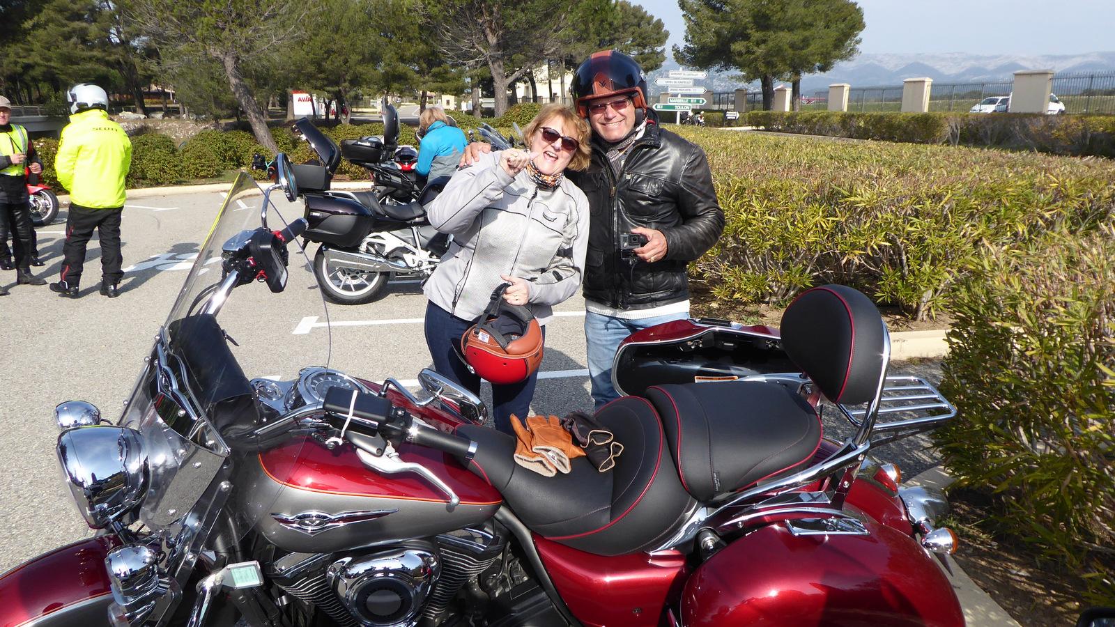 les invités du jour : Pascal et Brigitte en Kawasaki VN 1700 classic Tourer