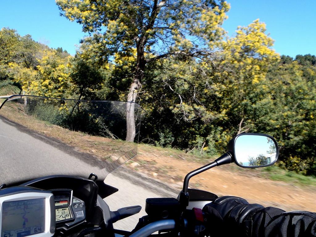 sur la route du Tanneron