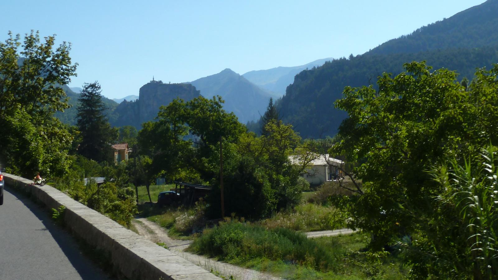 arrivée sur Castellane