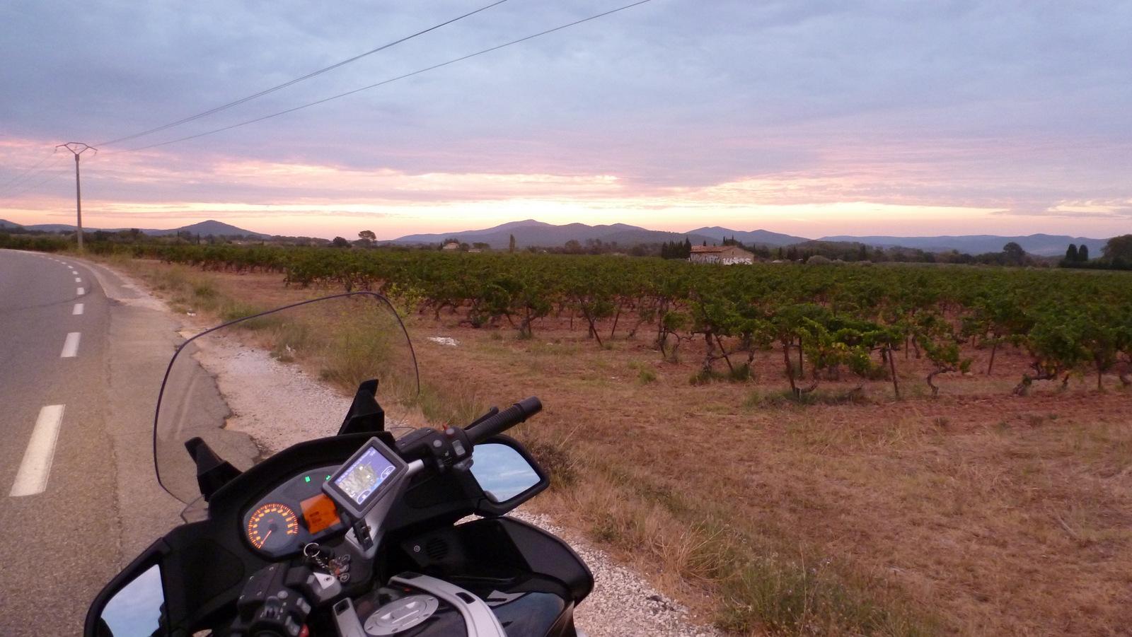 sept heure du matin, départ de Toulon ...