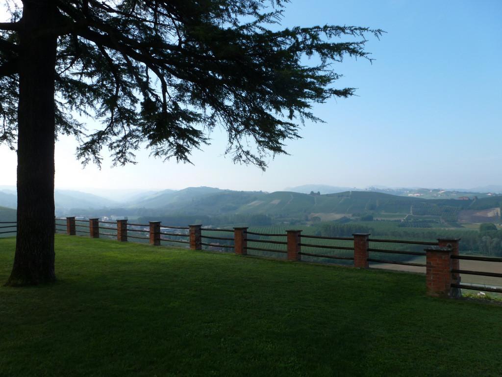 dans le parc du château de Grinzane Cavour
