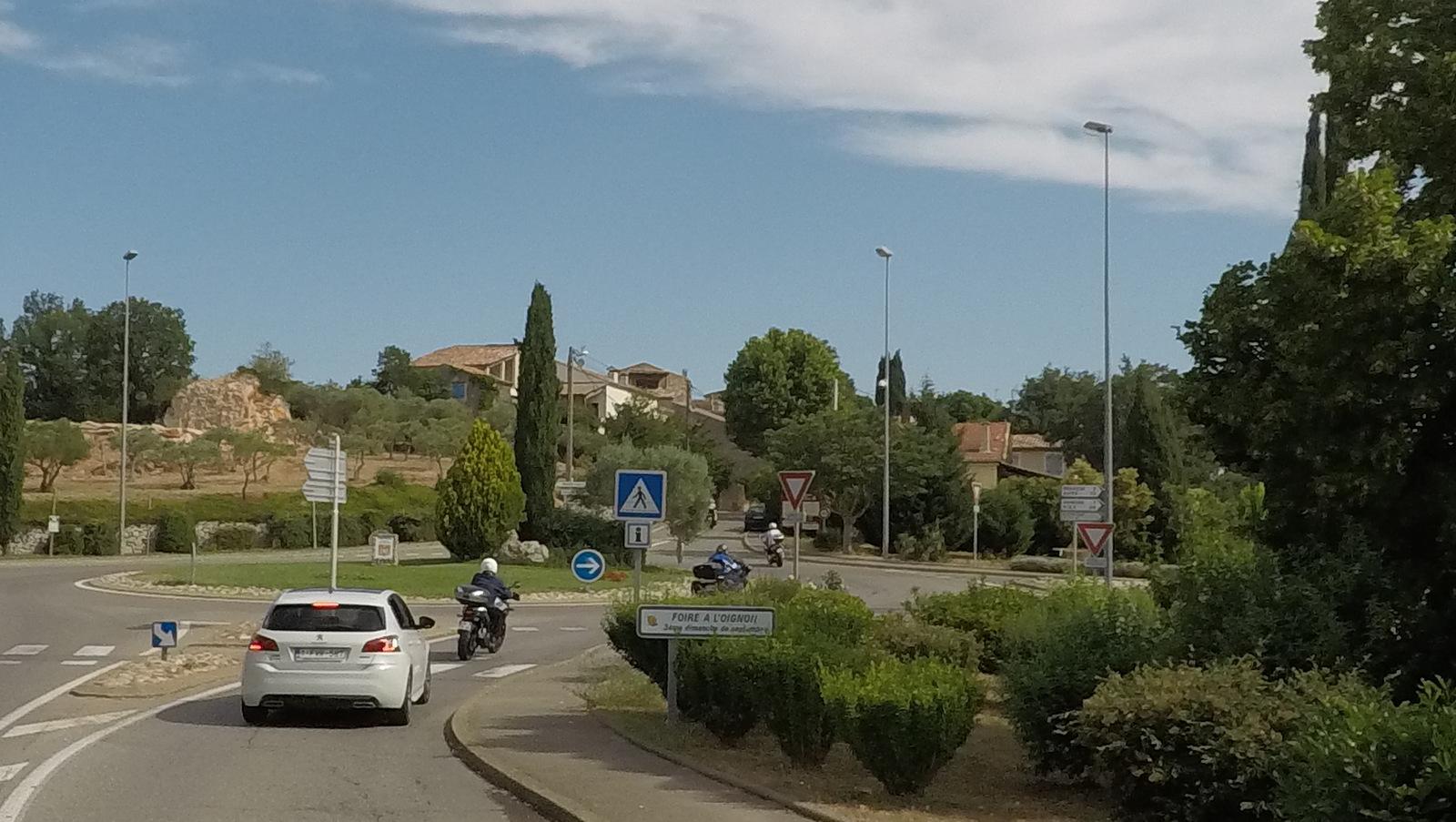 arrivée à Montmeyan