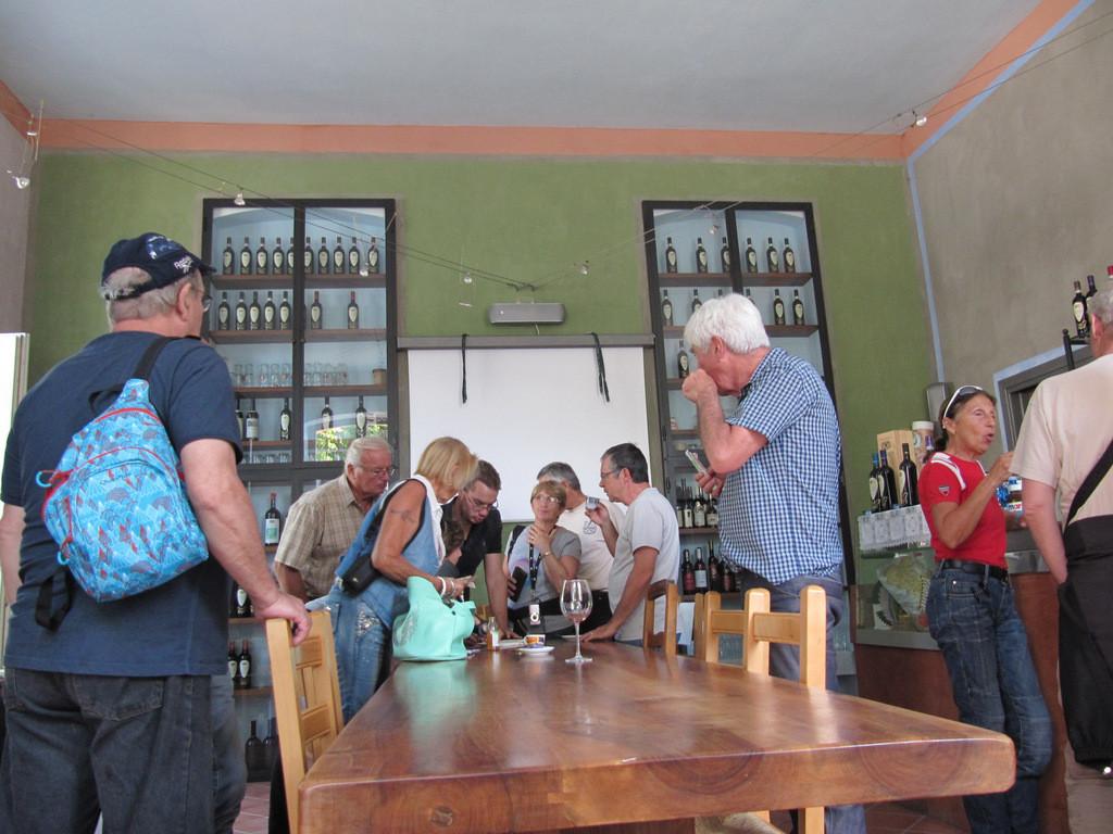 café et commande de vin de la propriété