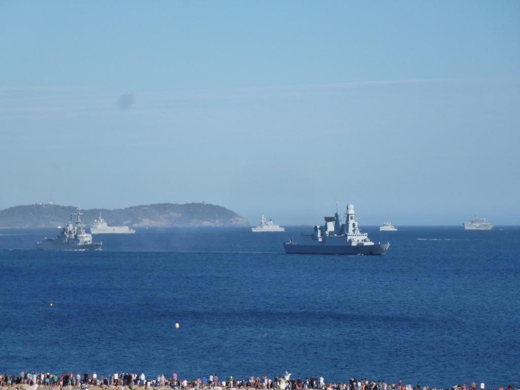 arrivée de l'armada