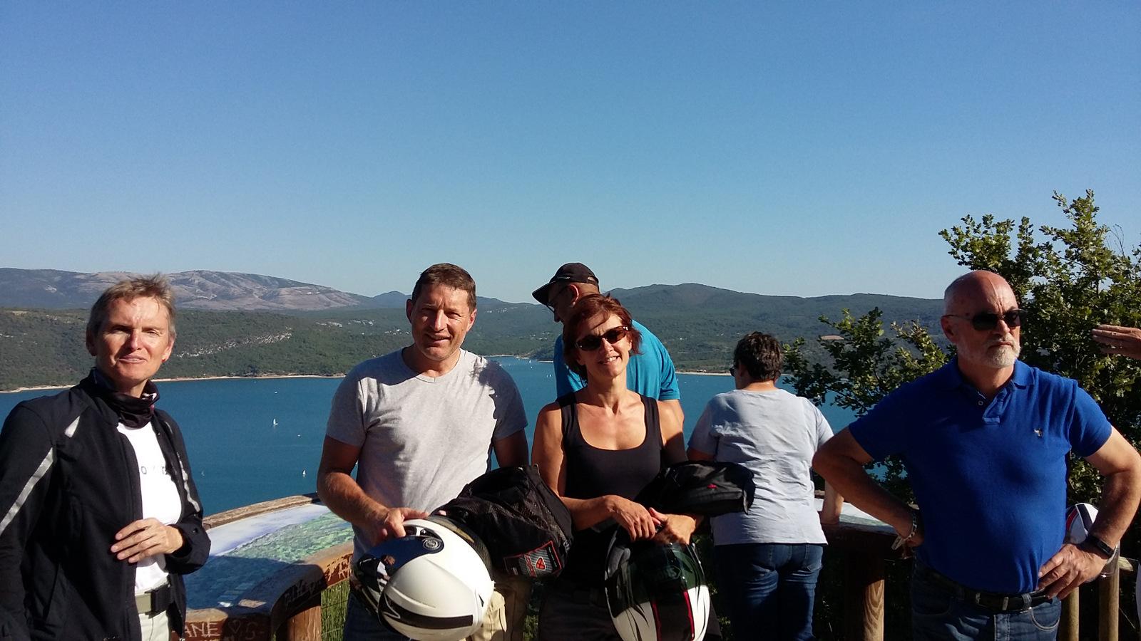 point de vue sur le lac de Ste Croix