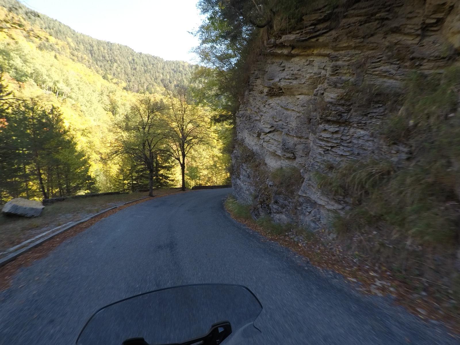 descente de la route de Turini
