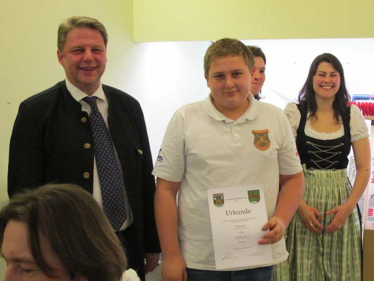 11. Platz Einzelwertung Schüler für Jonas Gschlößl