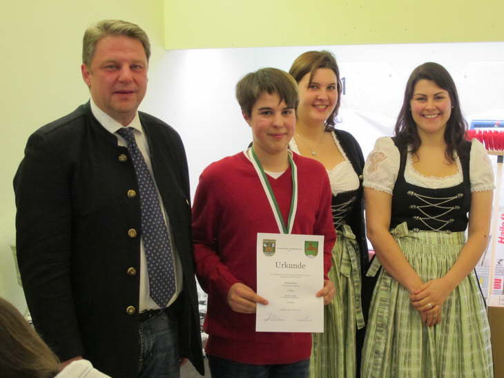 3. Platz Einzelwertung Schüler für Jakob Demmel