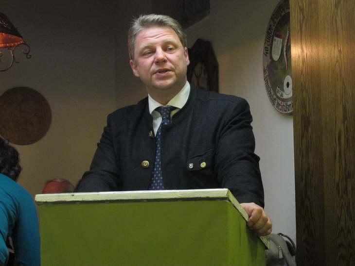 Unser Bürgermeister bei der Ansprache