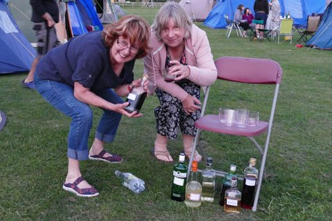 Setting up the bar at the campsite, 40th Anniversary Weekend 28th-30th June 2019