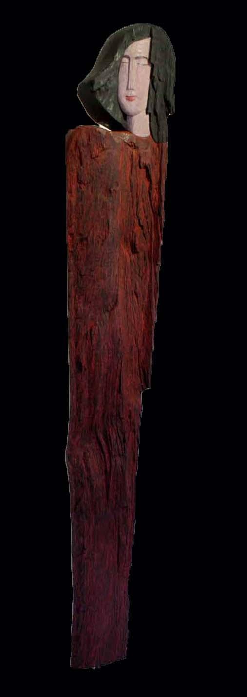 """Die Rote"" Buche Farbstifte 86 cm"