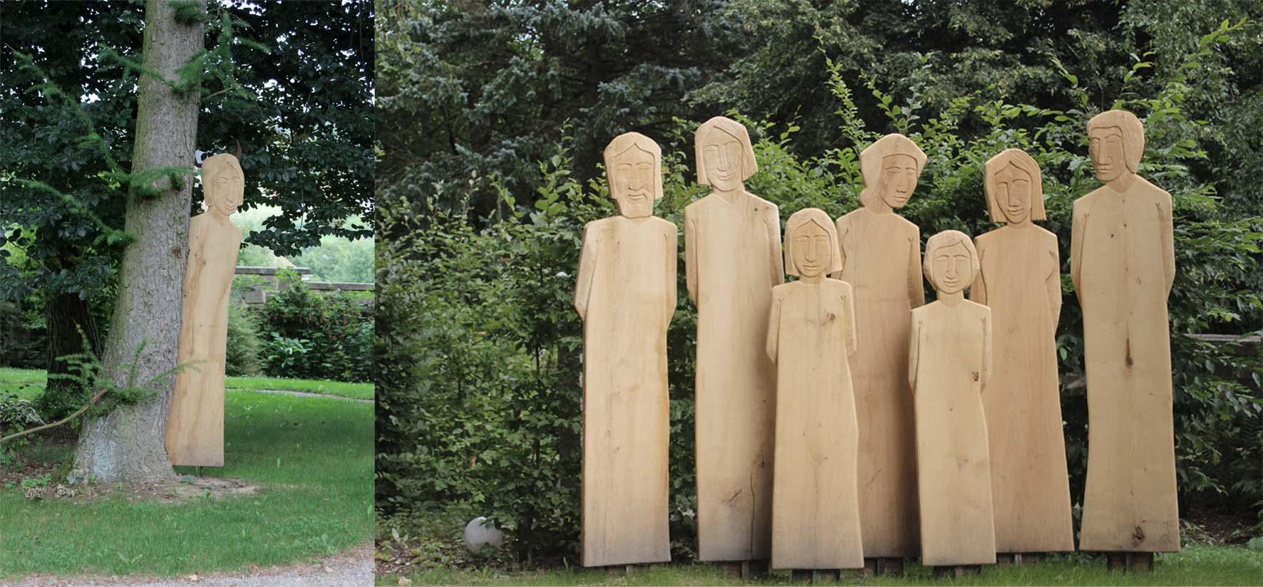 """""""Schutzmenschen - gemeinsam"""" im Spirituellen Garten Kloster Neustift"""