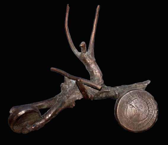 """Isi Raida"" Bronze  incl. Sockel 29 cm"