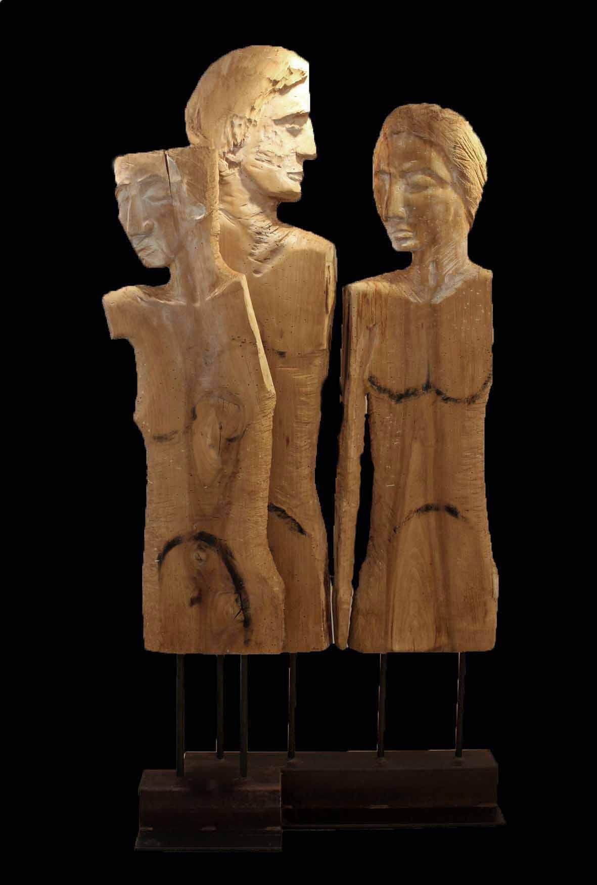 """Tristezza""   Nußbaum 206 cm"
