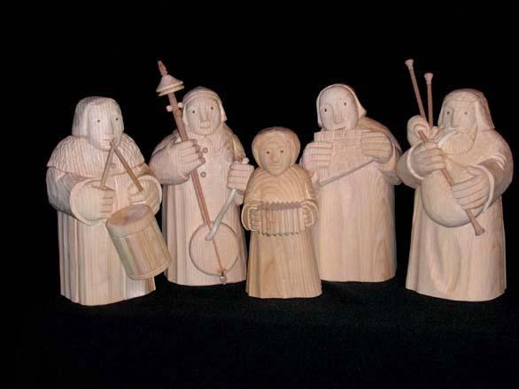 Musikanten natur,   Weymouthskiefer oder Zirbe 18 cm