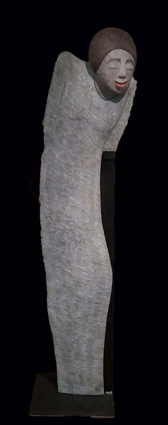 """""""Zufrieden"""" Platane Farbstift 135 cm"""