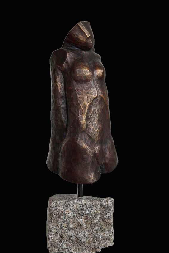 """""""Eins""""   Bronze incl. Stein 37 cm"""