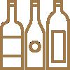 Weinangebot in der cantina Adornetto in Kirchheim unter Teck