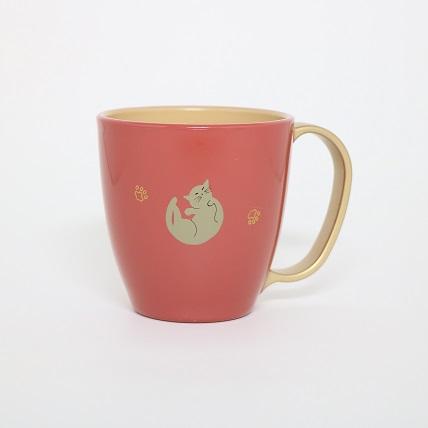 猫 マグカップ ピンク 猫になりたい ぬりもの 金沢 おみやげ わこう 和幸