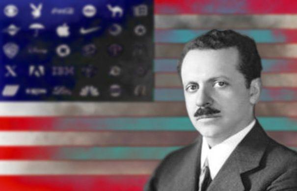 Edward Bernays drapeau américain logos